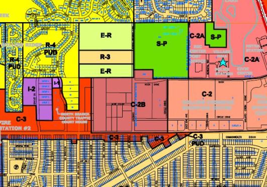 "Zoning Map of RLB's ""Central Commercial"" area..."