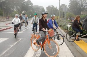 "Municipalities all over the country are discovering the economic benefits of becoming ""bicycle friendly"". [Photo: SF Chronicle]"