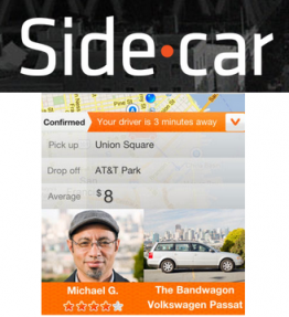 SideCar is a real-time ridesharing community that connects drivers with spare seats in their car to passengers who need instant rides, via a user-friendly proprietary smartphone technology. It helps drivers because they use their own car and help cover the costs of maintenance - all while meeting people in the city. Meanwhile for passengers it makes it easy to get a ride, cheaper than alternatives, and gives them a unique personal interaction.