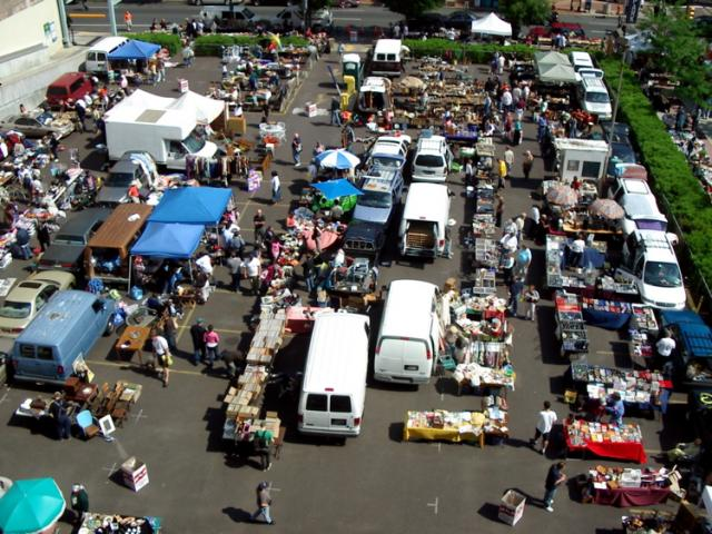 "Flea Market: A very common ""Pop Up"" business space."