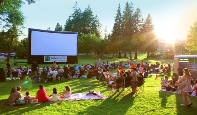 Free Movie Nights in Stanley Park. Donations are accepted to benefit a different local charity each week.