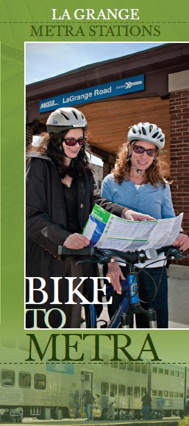 Bike-to-Metra Pamphlet for the village of LaGrange IL.