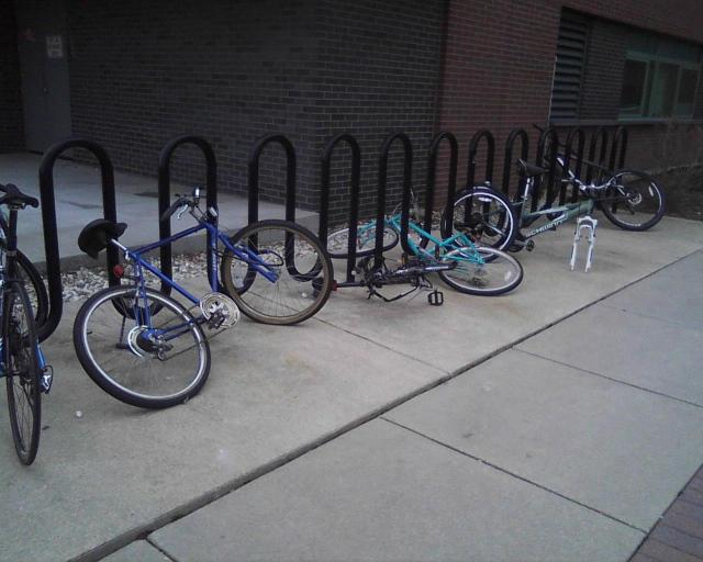 "The newer ""Wave"" bike racks are just as nasty and unsupportive!"
